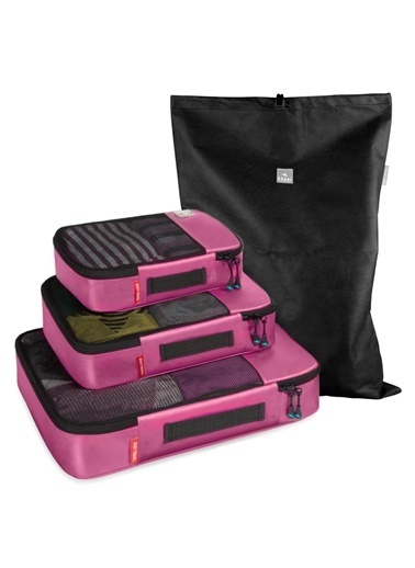 Fagel Travel 4Lü Klasik Set Pembe